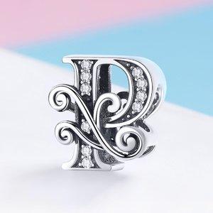 Talisman din argint cu Litera P din Poveste