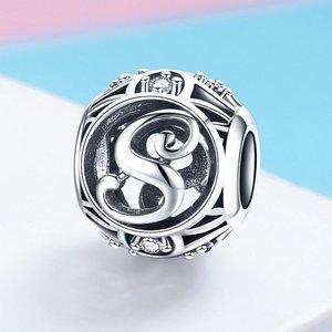 Talisman din argint cu Litera S si cristale