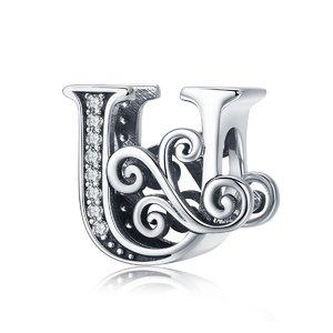 Talisman din argint cu Litera U din Poveste