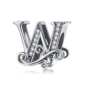 Talisman din argint cu Litera W din Poveste