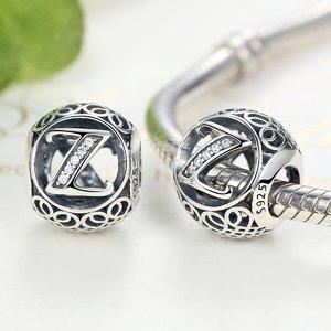 Talisman din argint cu litera Z