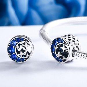 Talisman din argint cu Luna si Stele
