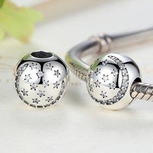 Talisman din argint cu clips si Stelute Cristaline