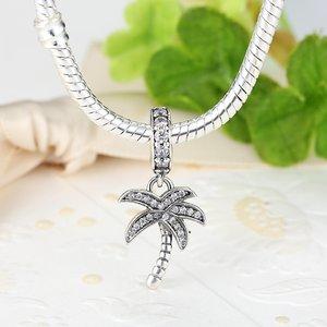 Talisman din argint cu Palmier si Cristale