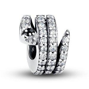 Talisman din argint cu Sarpe si Cristale