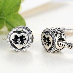 Talisman din argint cu Soricei Indragostiti