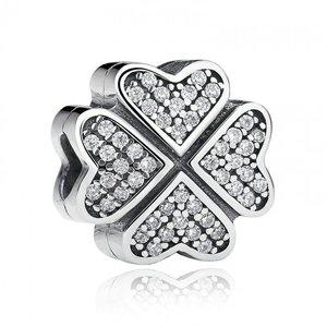 Talisman din argint cu Trifoi si Cristale