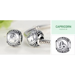 Talisman din argint cu Zodia Capricorn