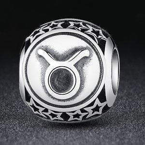 Talisman din argint cu Zodia Taur