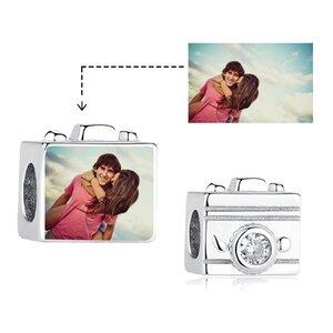 Talisman din argint Custom Photo Camera