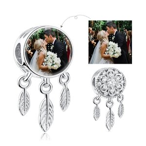 Talisman din argint Custom Photo Dream Catcher