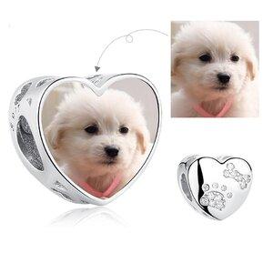 Talisman din argint Custom Photo Loving Puppy