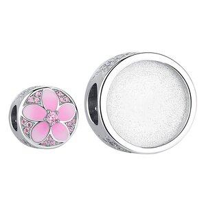 Talisman din argint Custom Photo Pink Daisy