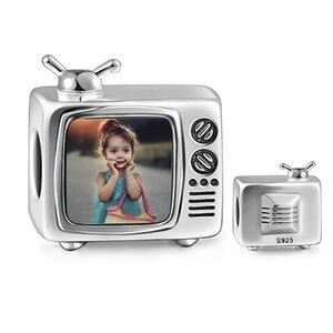 Talisman din argint Custom Photo TV
