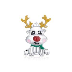 Talisman din argint Cute Reindeer