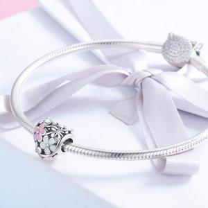 Talisman din argint Daisy Bouquet