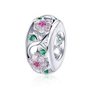 Talisman din argint Dazzling Flowers