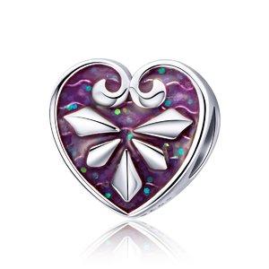 Talisman din argint Dazzling Heart Shape