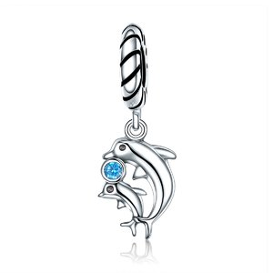Talisman din argint Dolphins Family