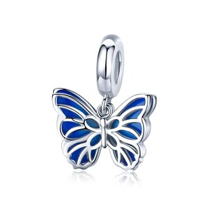 Talisman din argint Double Layered Butterfly