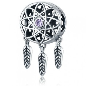 Talisman din argint Dream Catcher purple