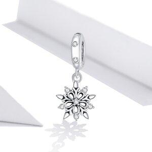 Talisman din argint Elegant Snowflake Drop