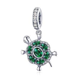 Talisman din argint Emerald Turtle