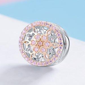 Talisman din argint Esquisite Pink Charm
