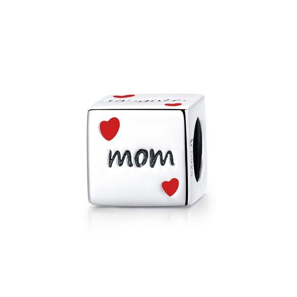 Talisman din argint Family Cube
