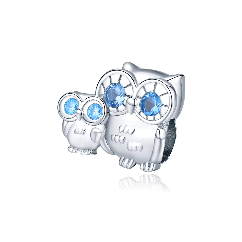 Talisman din argint Family Owls poza 2021