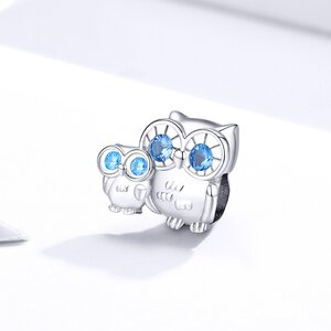 Talisman din argint Family Owls