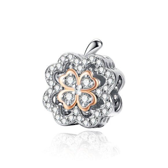 Talisman din argint Fancy Lucky Clover