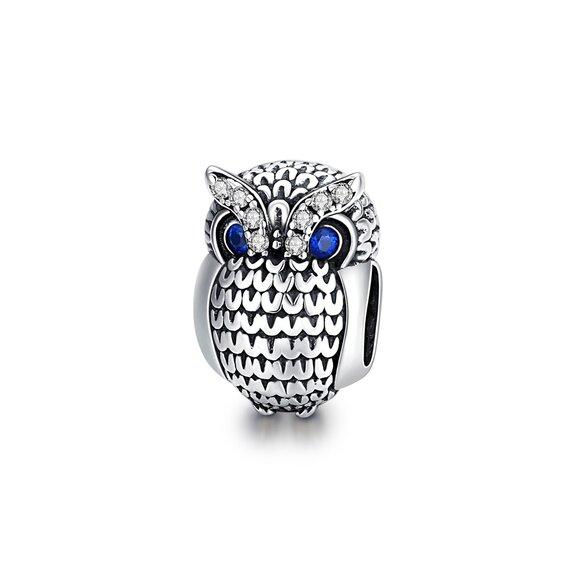 Talisman din argint Fashion Owl
