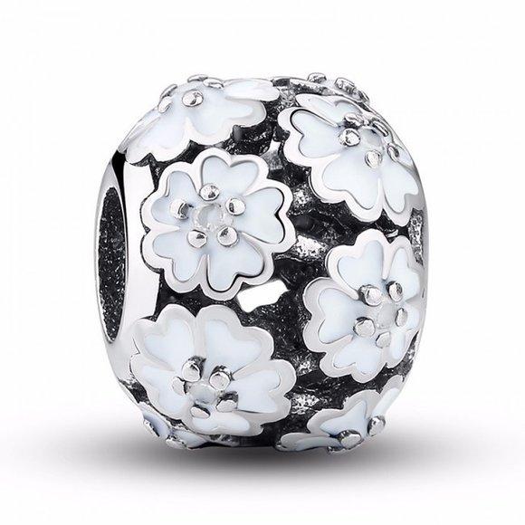 Talisman din argint Floare Alba Daisy