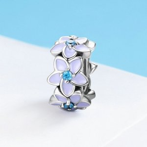 Talisman din argint Floare violeta