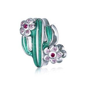 Talisman din argint Flowered Cactus