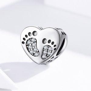 Talisman din argint Footprint Charm