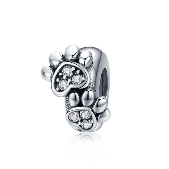 Talisman din argint Footprint Stopper Bead