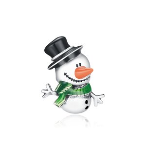 Talisman din argint Friendly Snowman