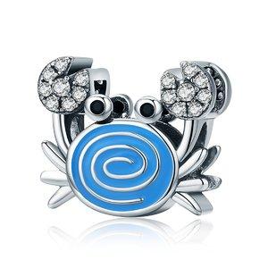 Talisman din argint Funny Blue Crab