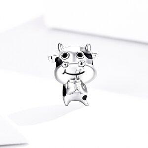 Talisman din argint Funny Cow