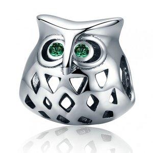 Talisman din argint patinat Funny Owl