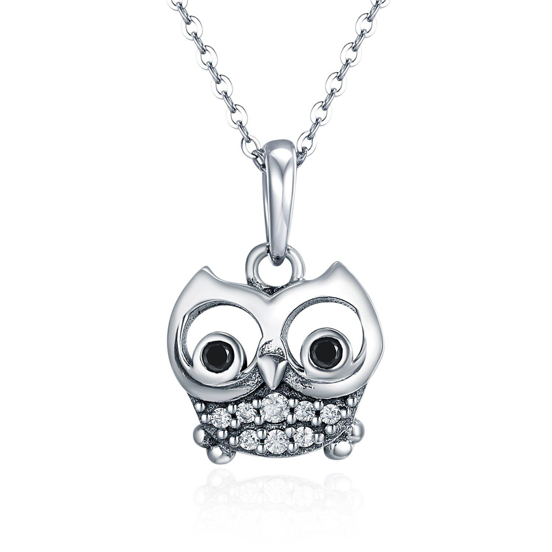 Talisman din argint Funny Owl Eyes poza 2021