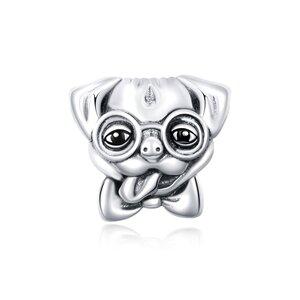 Talisman din argint Funny Pug