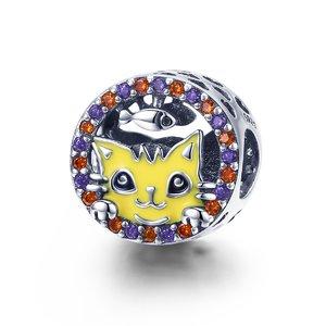 Talisman din argint Funny Yellow Cat
