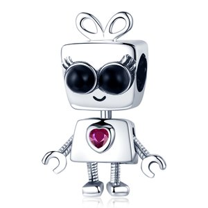 Talisman din argint Girl Robot