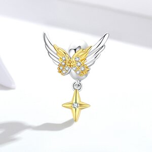 Talisman din argint Golden Angel Wings