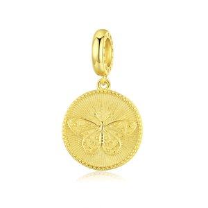 Talisman din argint Golden Butterfly