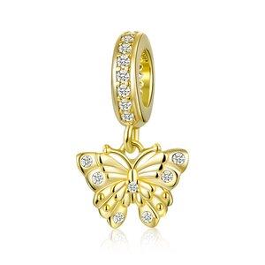 Talisman din argint Golden Glamour Butterfly
