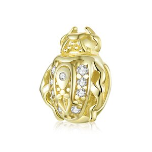 Talisman din argint Golden Lady Bug